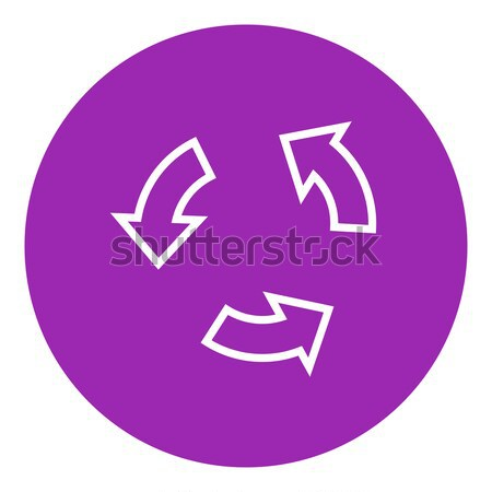Replay button line icon. Stock photo © RAStudio