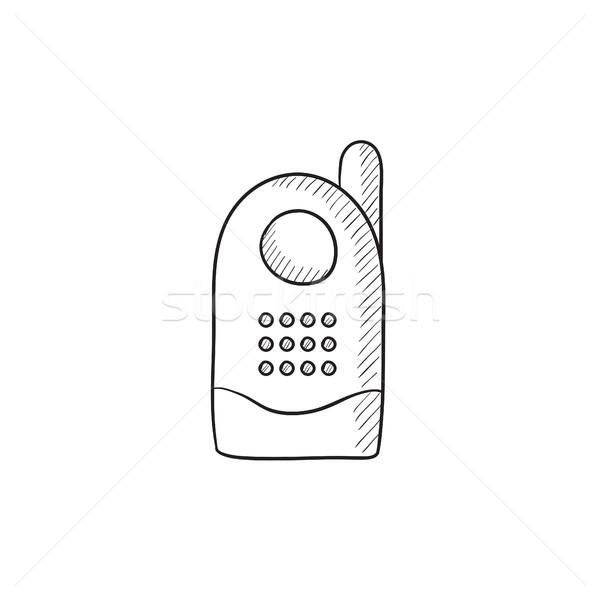 Radio baby monitor sketch icon. Stock photo © RAStudio