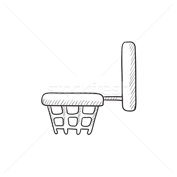 basketball hoop drawing  amazoncom spalding inch backboard