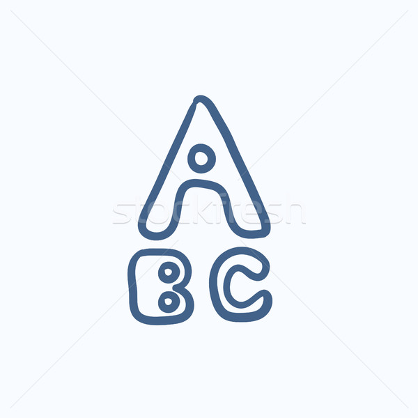 Letters painted in bold sketch icon. Stock photo © RAStudio