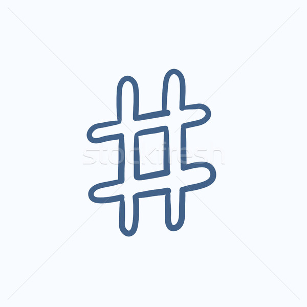 Hashtag symbol sketch icon. Stock photo © RAStudio