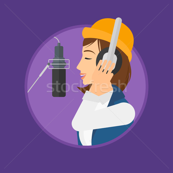 Singer recording song. Stock photo © RAStudio