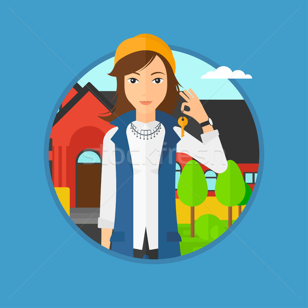 Real estate agent with key. Stock photo © RAStudio