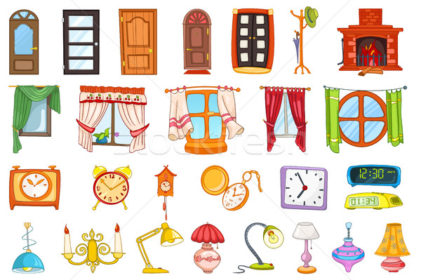 Vector set of house interior objects. Stock photo © RAStudio