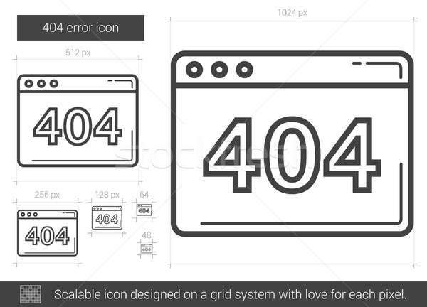 Web error line icon. Stock photo © RAStudio