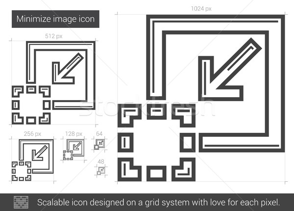 Minimize image line icon. Stock photo © RAStudio