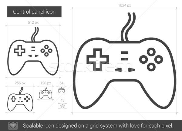 Game pad line icon. Stock photo © RAStudio