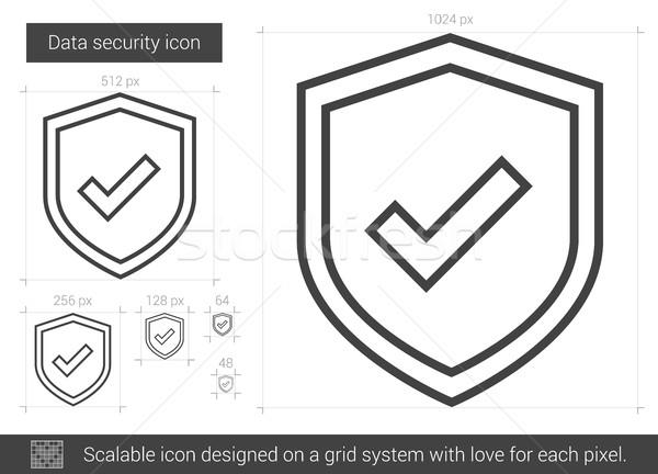 Segurança de dados linha ícone vetor isolado branco Foto stock © RAStudio