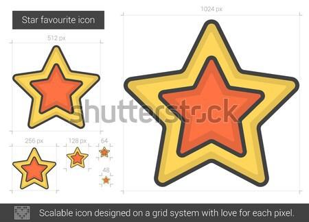 Star favourite line icon. Stock photo © RAStudio