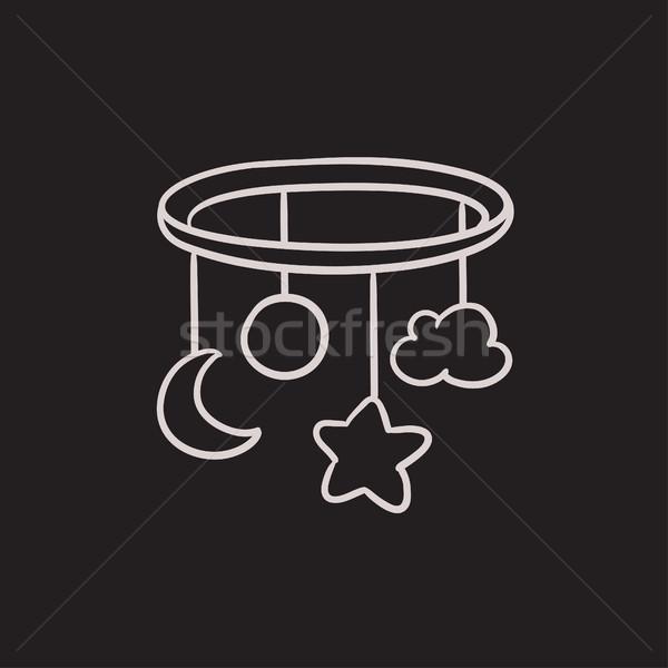 Cuna carrusel boceto icono vector aislado Foto stock © RAStudio