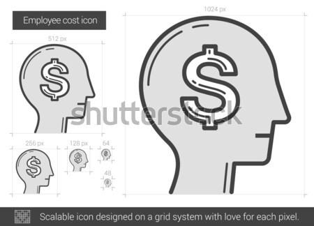 従業員 コスト 行 アイコン ベクトル 孤立した ストックフォト © RAStudio
