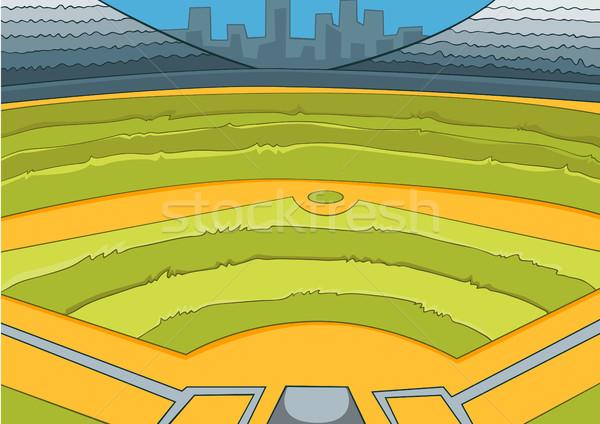 Rajz baseball stadion kézzel rajzolt sport színes Stock fotó © RAStudio