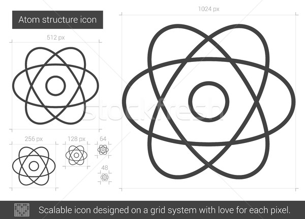Atom stock photos stock images and vectors stockfresh atom structure line icon stock photo rastudio ccuart Image collections