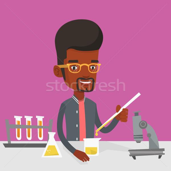Student werken laboratorium klasse uit Stockfoto © RAStudio