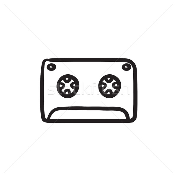 Cassette tape sketch icon. Stock photo © RAStudio