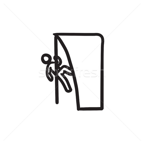 Rock climber sketch icon. Stock photo © RAStudio