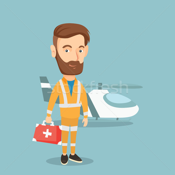 Doctor of air ambulance vector illustration. Stock photo © RAStudio