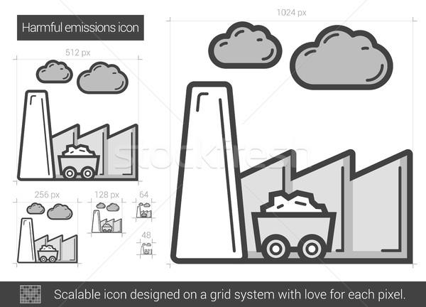 Harmful emissions line icon. Stock photo © RAStudio