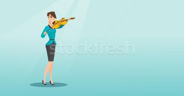 женщину играет скрипки скрипач классическая музыка Сток-фото © RAStudio