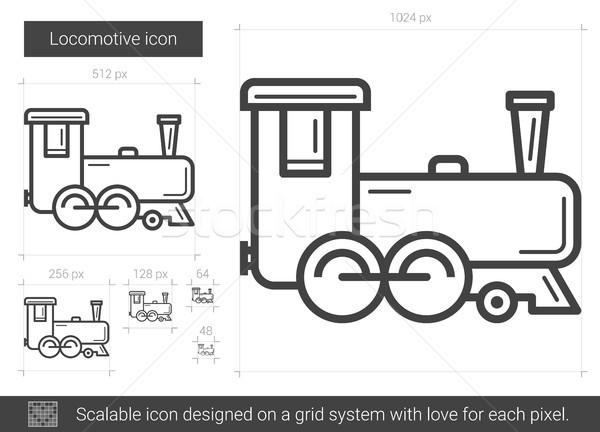 Lokomotif hat ikon vektör yalıtılmış beyaz Stok fotoğraf © RAStudio