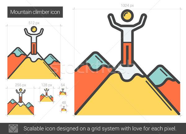 Mountain climber line icon. Stock photo © RAStudio