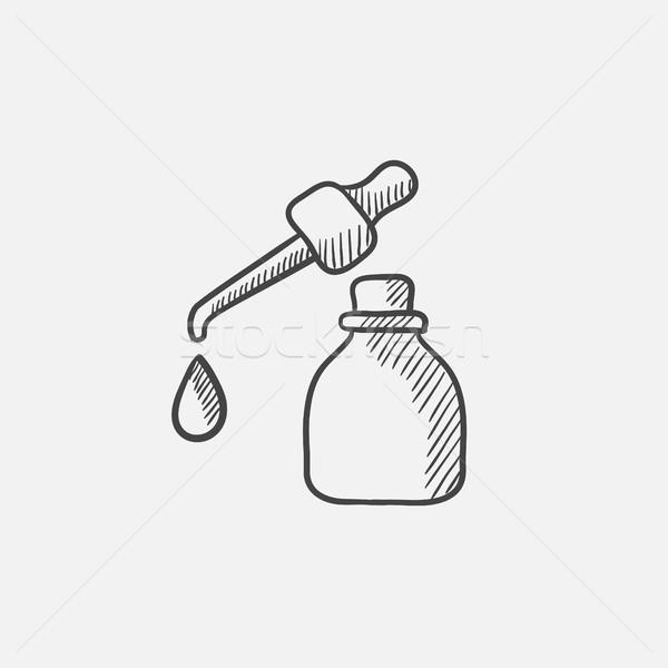 бутылку падение эскиз икона веб Сток-фото © RAStudio