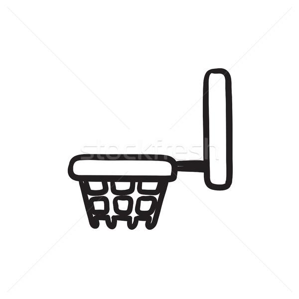 Basketball hoop sketch icon. Stock photo © RAStudio