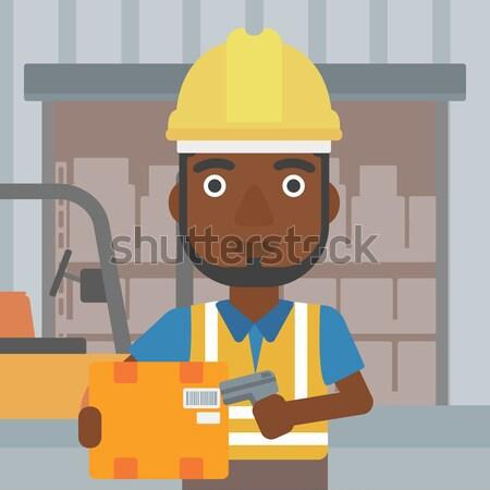 Man working on industrial drilling machine. Stock photo © RAStudio
