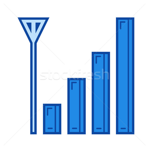 Mobiele signaal lijn icon vector geïsoleerd Stockfoto © RAStudio