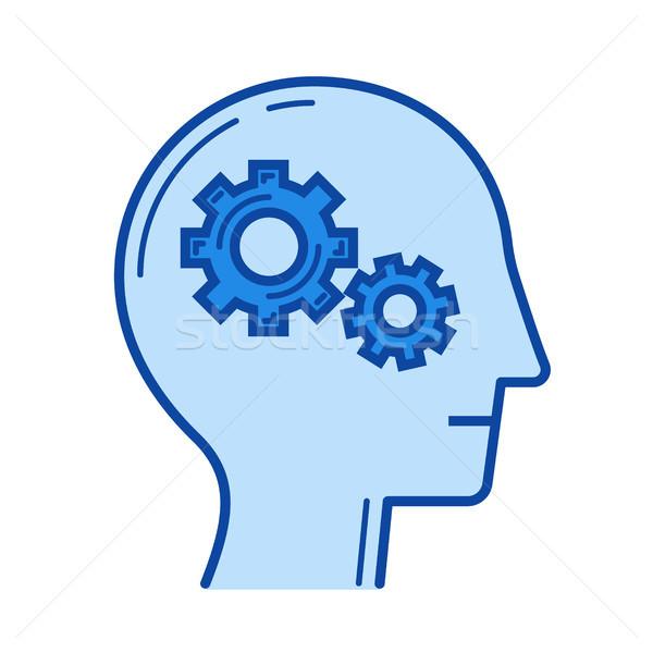 Brain activity line icon. Stock photo © RAStudio