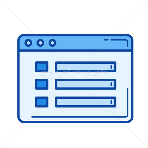 File details line icon. Stock photo © RAStudio