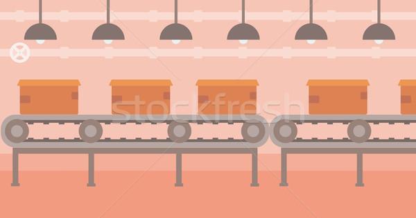 Gürtel Karton Boxen Vektor Design Illustration Stock foto © RAStudio