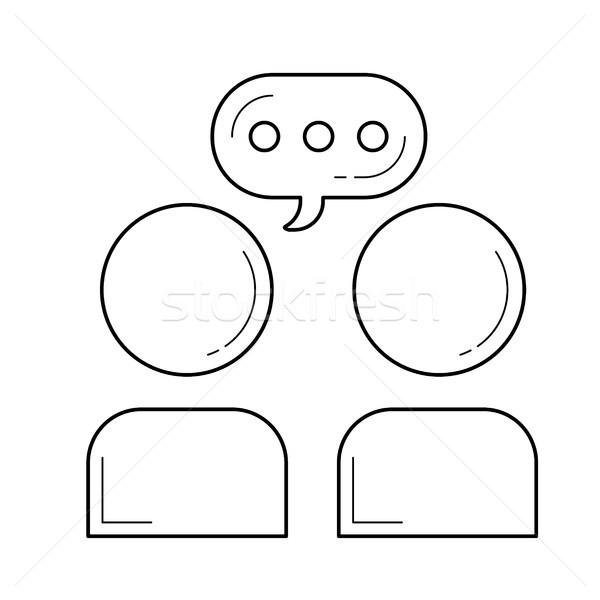 通信 行 アイコン ベクトル 孤立した 白 ストックフォト © RAStudio