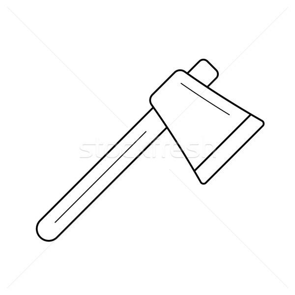 斧 行 アイコン ベクトル 孤立した 白 ストックフォト © RAStudio