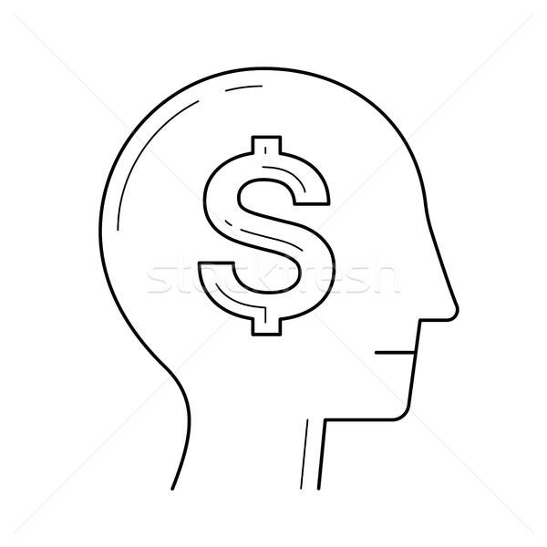 豊富な 脳 頭 ベクトル 行 アイコン ストックフォト © RAStudio