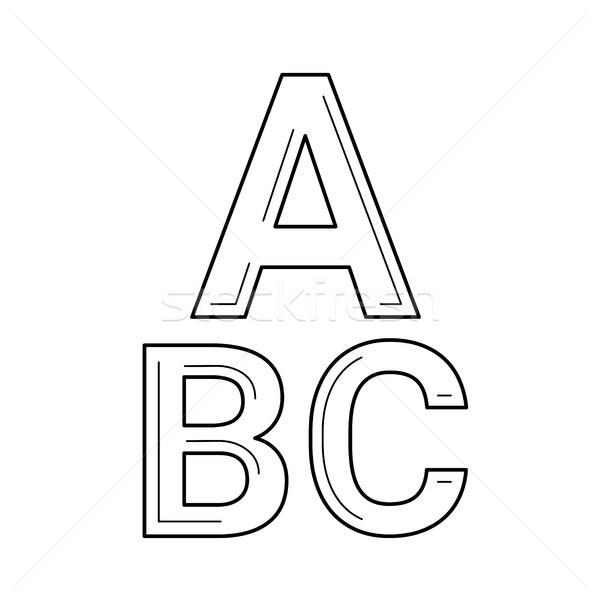 Szókincs vektor vonal ikon izolált fehér Stock fotó © RAStudio