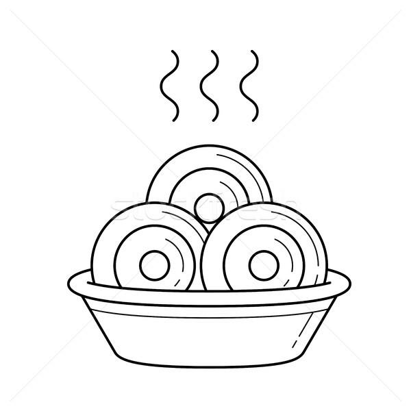 Dumplings vector line icon. Stock photo © RAStudio