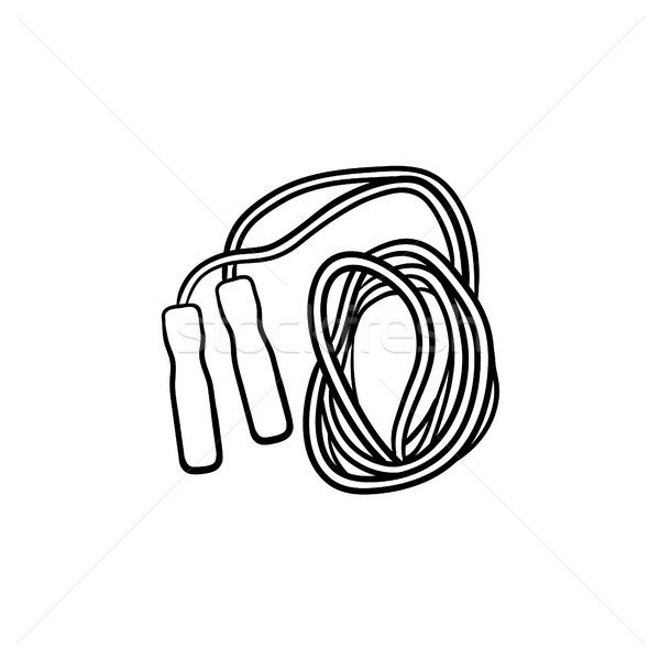 Jumping rope hand drawn outline doodle icon. Stock photo © RAStudio