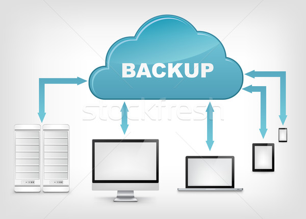 Stock photo: Cloud Service. EPS 10.