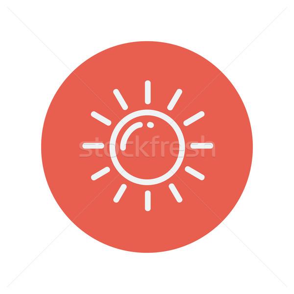 Sun thin line icon Stock photo © RAStudio