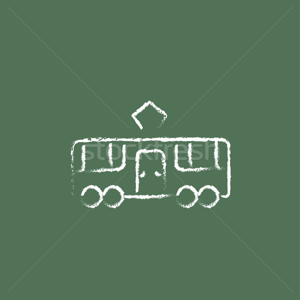 Tram icon drawn in chalk. Stock photo © RAStudio