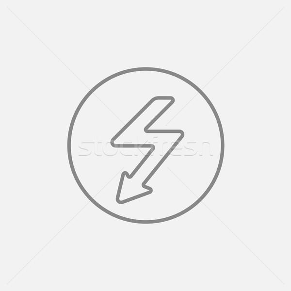 Lightning arrow downward line icon. Stock photo © RAStudio