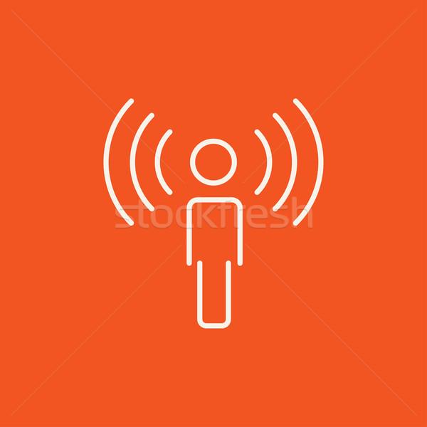 Adam hat ikon web hareketli Stok fotoğraf © RAStudio