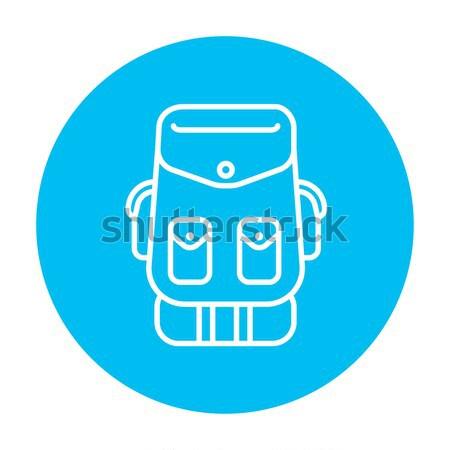 Backpack line icon. Stock photo © RAStudio