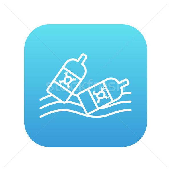 бутылок воды линия икона веб Сток-фото © RAStudio