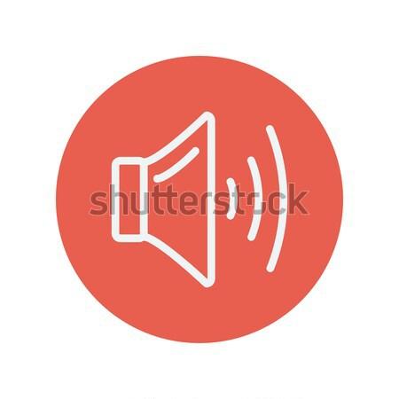 Język tom line ikona internetowych komórkowych Zdjęcia stock © RAStudio