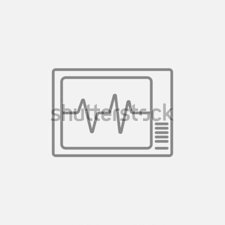 Heart monitor line icon. Stock photo © RAStudio