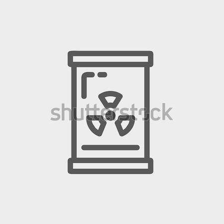 баррель излучение знак линия икона веб Сток-фото © RAStudio