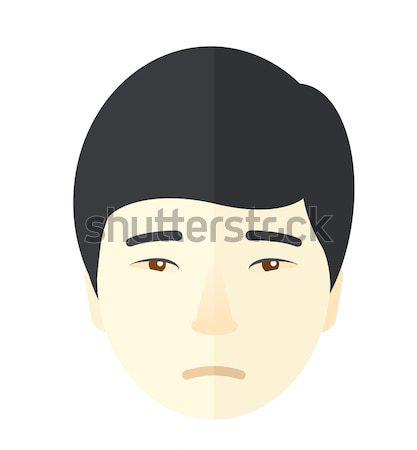 Memnun adam gözleri kapalı vektör dizayn örnek Stok fotoğraf © RAStudio