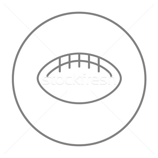 Rugby football ball line icon. Stock photo © RAStudio